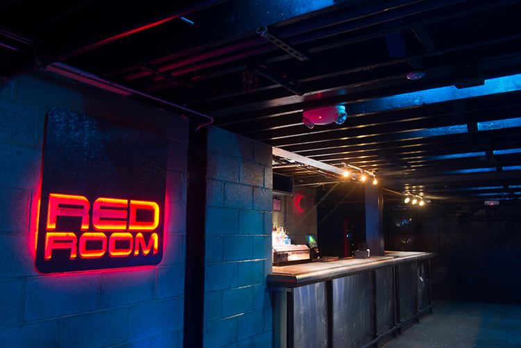 The Red Room at the Necto Nightclub in Ann Arbor, Michigan.
